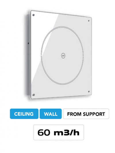 Wall mounted air purifier airO Free Cappe Baraldi MIlano